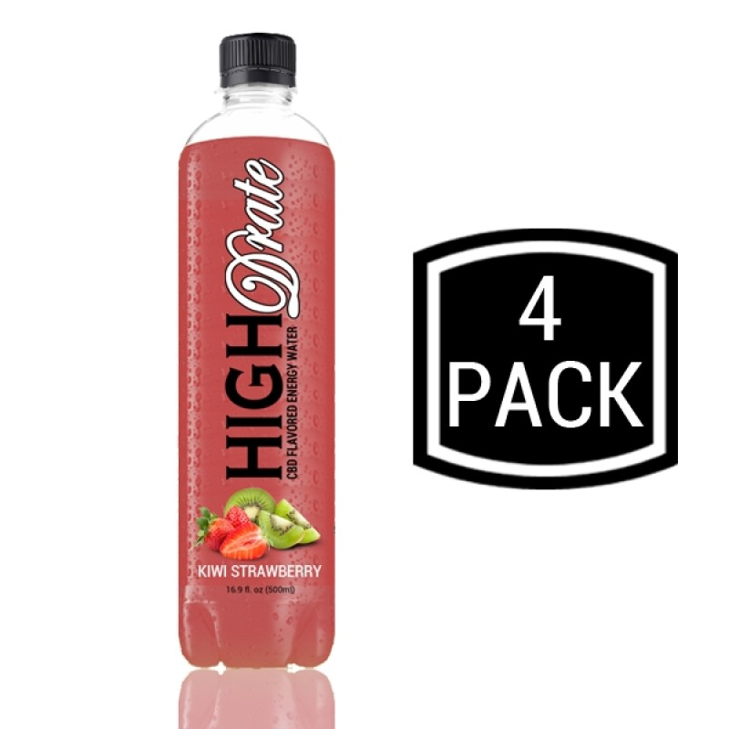 CBD Flavored Energy Water - Kiwi Strawberry - 4 Pack